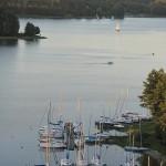 Widok na jeziora Wdzydzkie z wieży widokowej